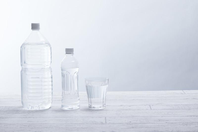 水分補給にミネラルウォーター