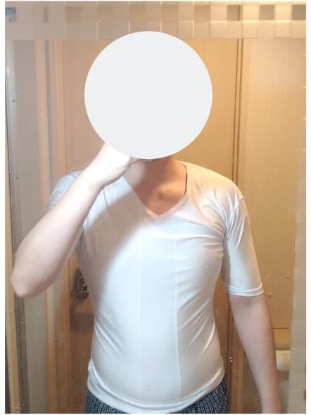 加圧シャツ着用